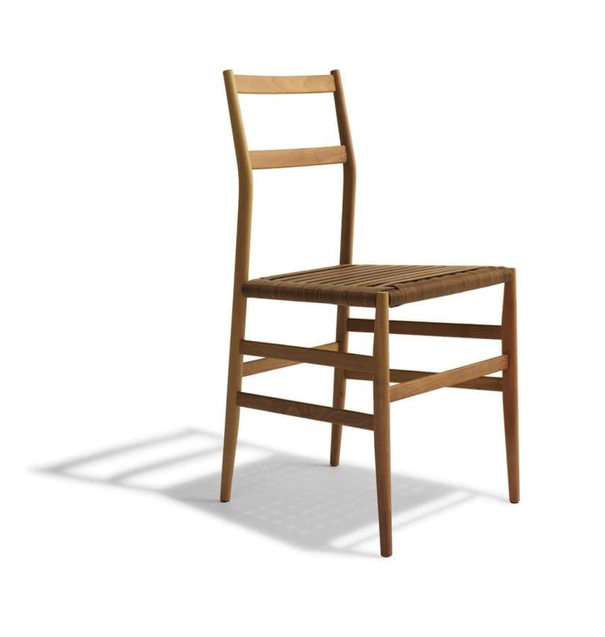 Sedia in legno seduta in paglia per agriturismo e - Sedie in legno design ...