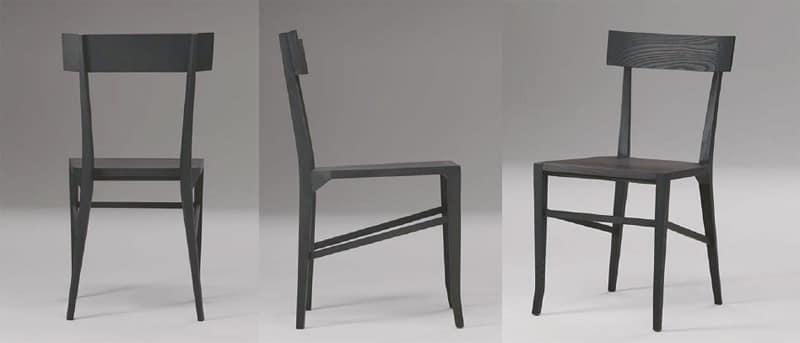 Sedia da pranzo interamente in legno per ristoranti idfdesign - Sedie in legno design ...