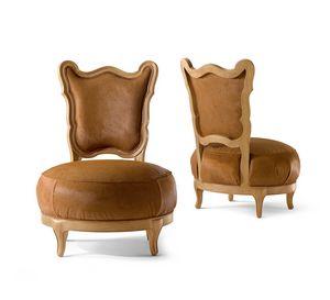 5804 Gattone, Sedia lounge con seduta tonda