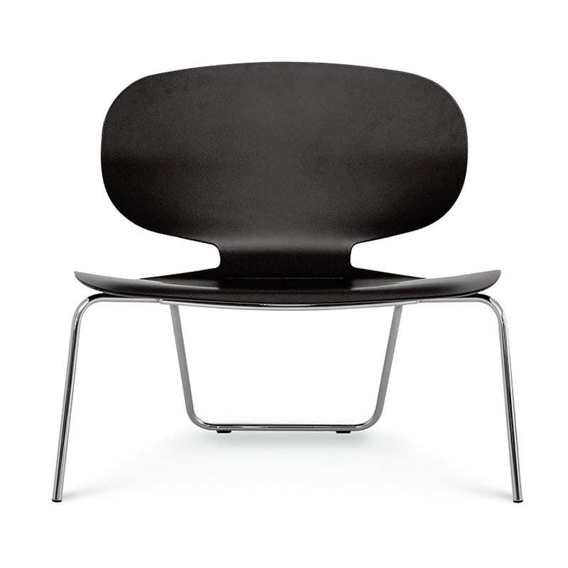 Alis XXL VS, Sedia con sedile largo in multistrato, per Sala attesa