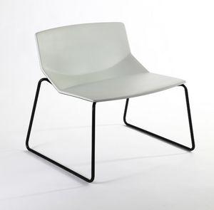 Formula tech LO, Sedia lounge, scocca in poliuretano, per aree lounge e attesa