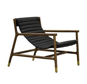 Joyce 3814/F, Lounge chair con seduta in pelle