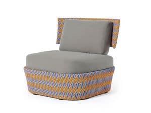 Kente lounge, Seduta lounge, con intreccio multicolore, per uso esterno