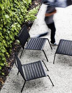 Rest Lounge, Sedia lounge per esterni, in alluminio e poliestere