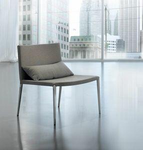 Tulip AT, Seduta lounge con base in acciaio, rivestimento sfoderabile