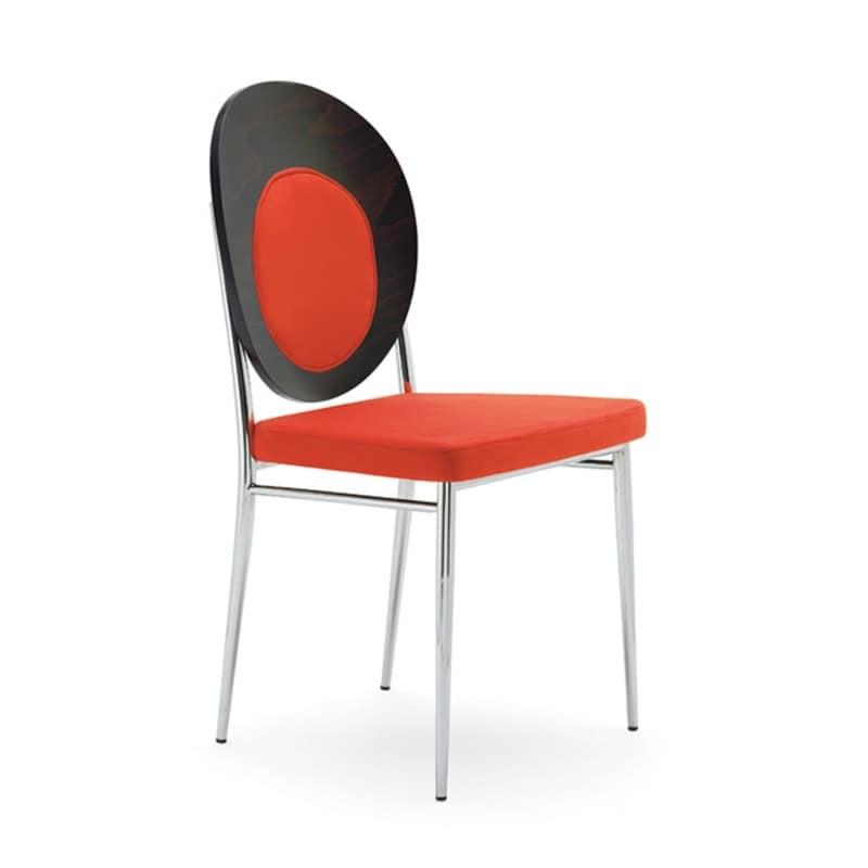 Sedia comoda in acciao cromato per sala d 39 attesa idfdesign for Sedia design comoda