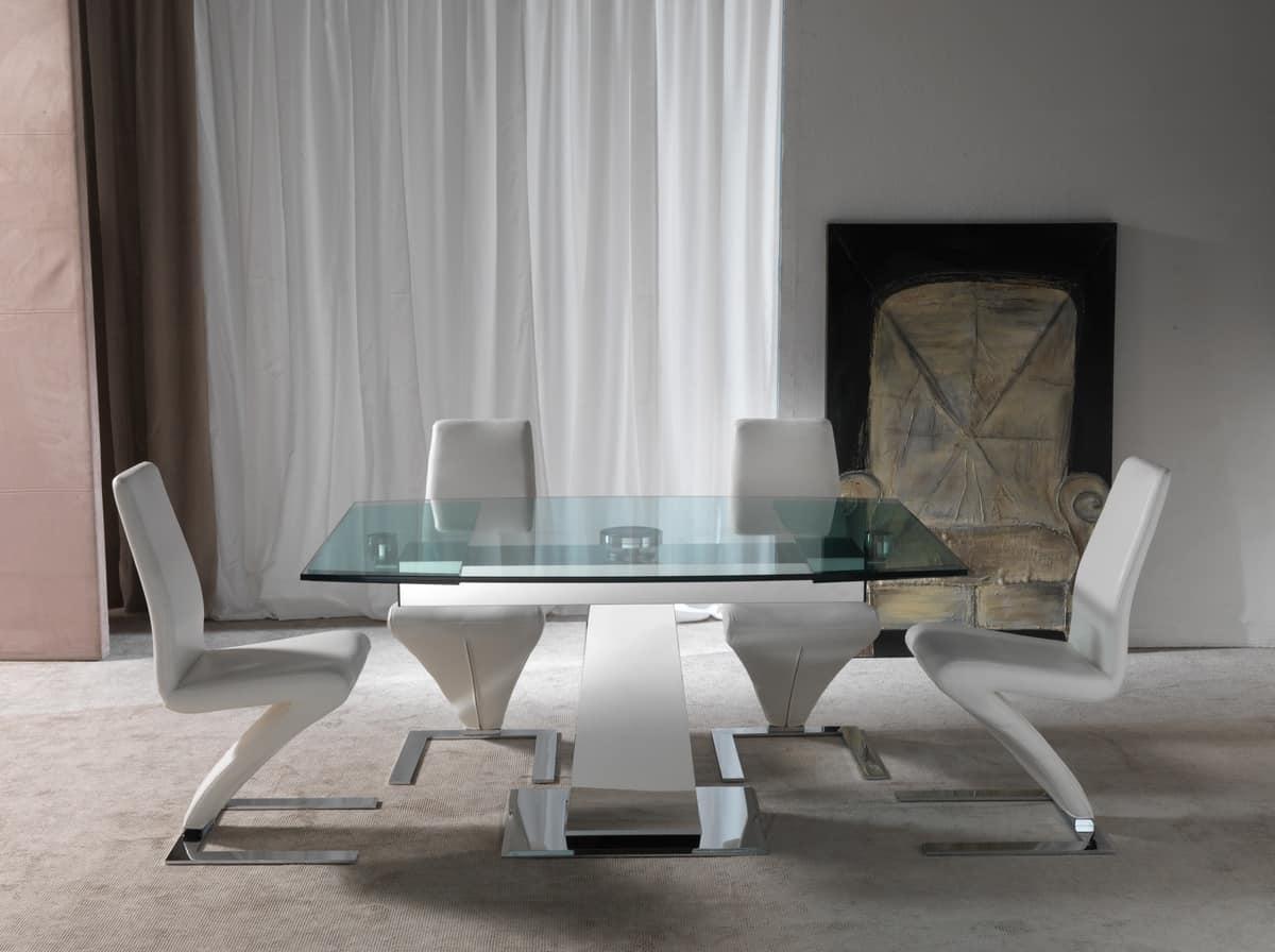 Sedia dal design alternativo rivestita in ecopelle for Sedia di design