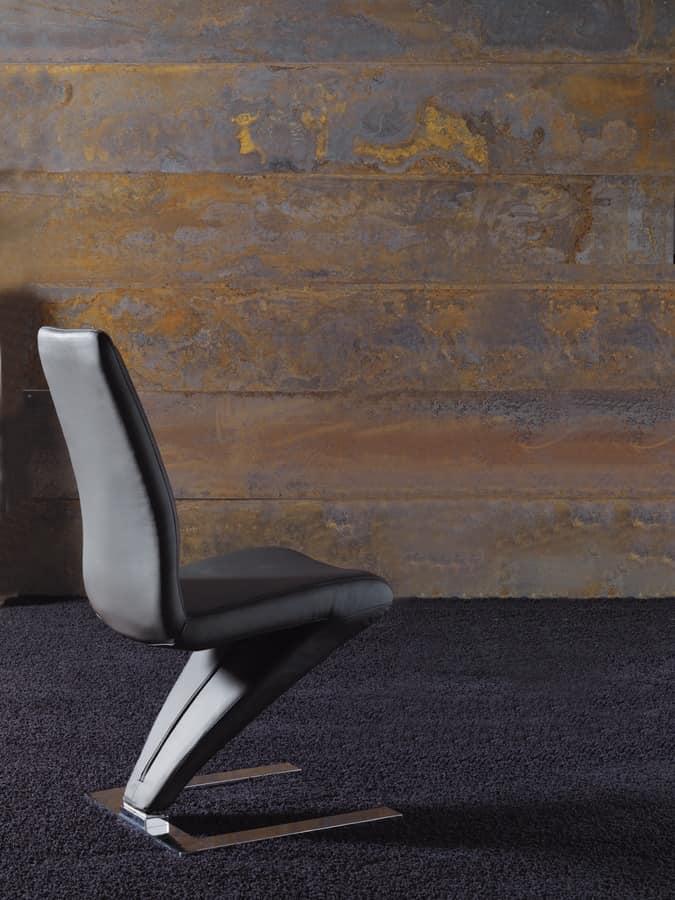 Sedia dal design alternativo rivestita in ecopelle for Sedia design srl
