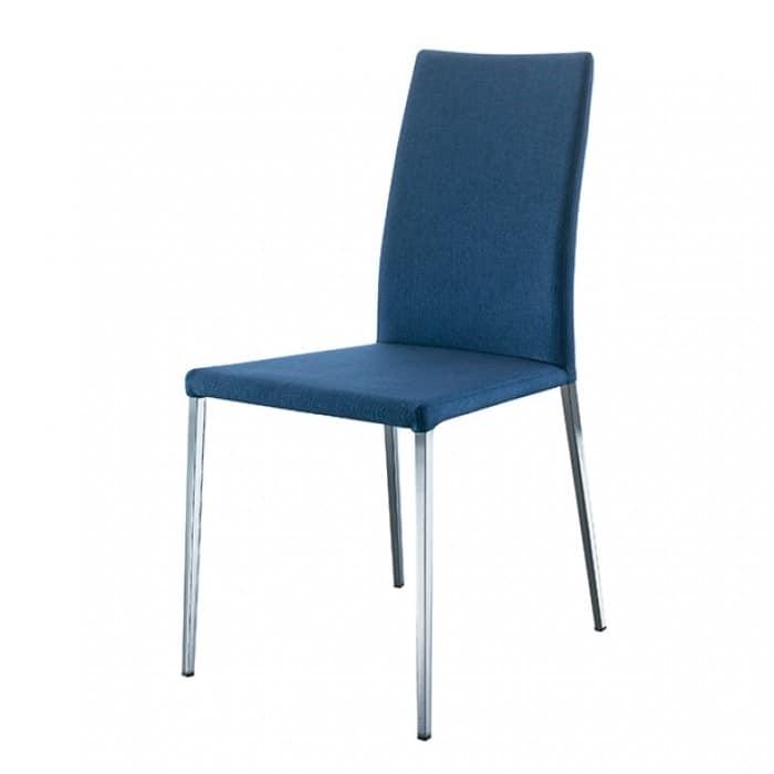 Sedia leggera rivestita in pelle in stile moderno idfdesign for Sedie stile moderno