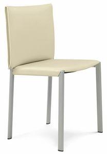 Bilbao sedia 10.0120, Sedie in metallo, con seduta in cuoio