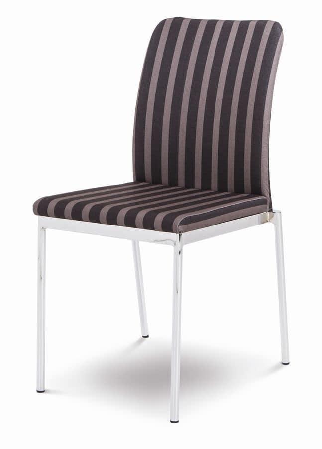 Sedia moderna per cucina, sedia impilabile per bar | IDFdesign