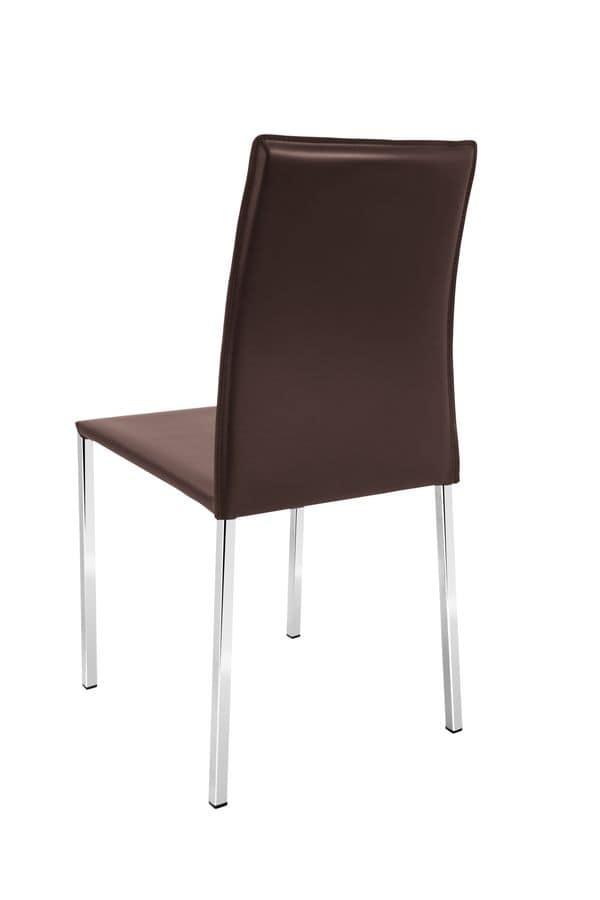 Sedia in pelle per ristoranti o bar | IDFdesign