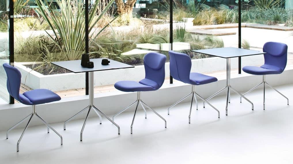 Sedia moderna in vari colori per sala attesa idfdesign for Colori per sala