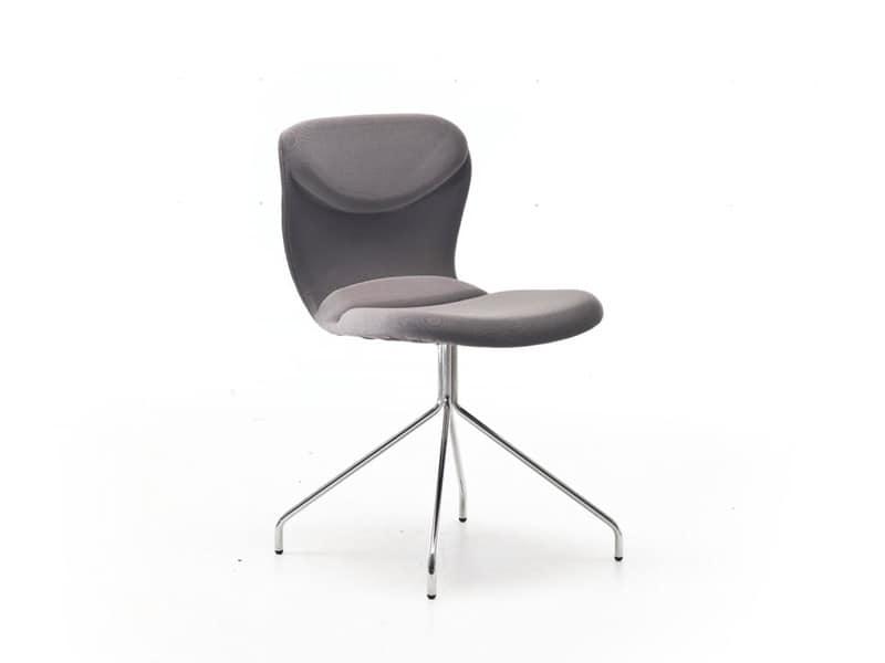 Sedia moderna in vari colori per sala attesa idfdesign for Sedie design italia