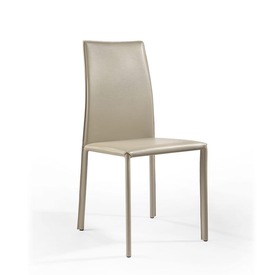 Sedute sedie moderne rivestite in pelle senza braccioli for Sedie moderne design
