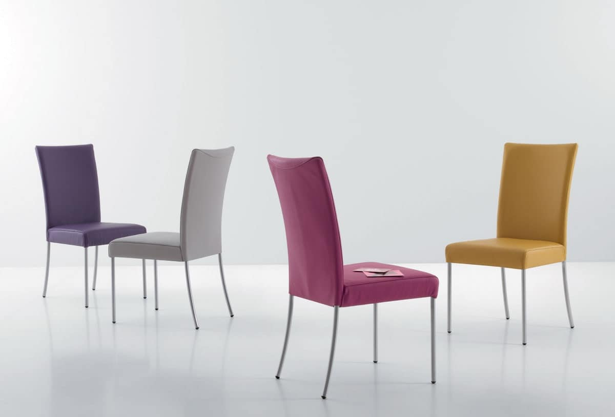 Sedie pelle sedie in metallo sedia imbottita soggiorno for Sedie soggiorno moderne