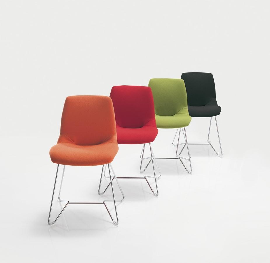 Sedie Metallo Imbottite.Sedia In Metallo Imbottita In Varie Colorazioni Idfdesign
