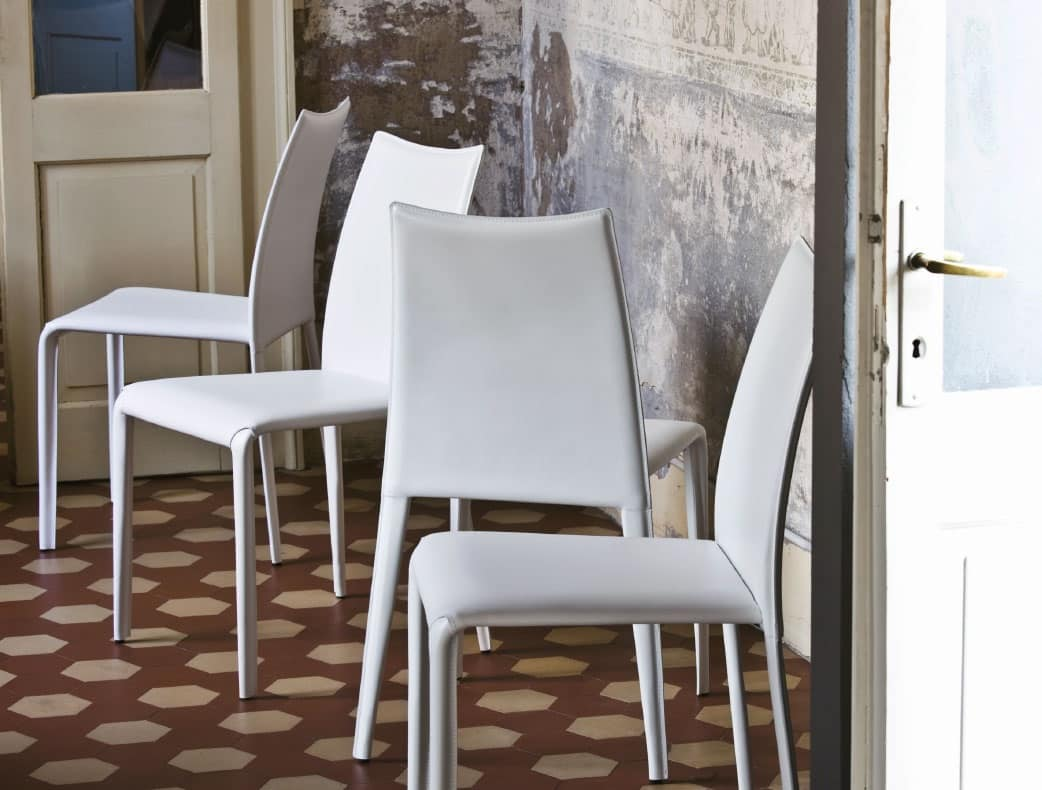 Sedia In Metallo Completamente Rivestito Per Salotto IDFdesign #5B4336 1042 790 Sedie Da Pranzo Imbottite