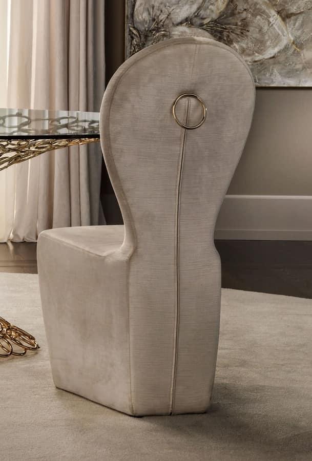 Mondrian sedia, Sedia in ferro interamente imbottita in poliuretano