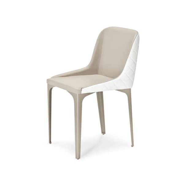 Sedia comoda in metallo seduta rivestita per soggiorno for Sedia design comoda