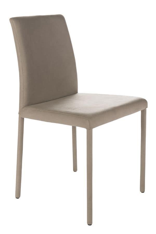 sedia con schienale basso per cucine idfdesign On sedie design treviso