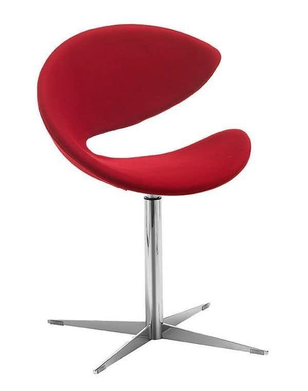 Sedia girevole in metallo seduta in hirek o imbottita for Sedie design twist