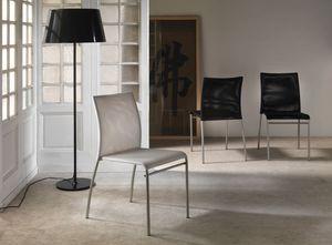 Art. 039 Matrix, Sedia con seduta in tecnorete, impilabile