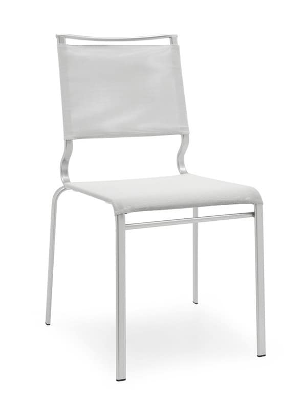Sedia impilabile in metallo scocca in rete per sale d for Sedie design metallo