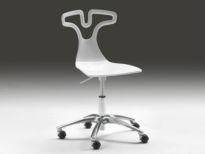 Sedia girevole su ruote seduta con altezza regolabile idfdesign