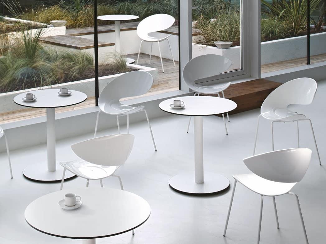 Sedia in metallo con seduta in hirek per bar e ristoranti for Sedie design twist