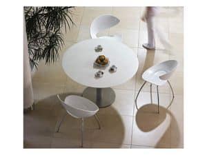 Twist S H, Sedia in metallo con seduta in Hirek, per bar e ristoranti