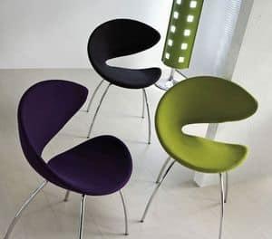 Immagine di Twist TS, sedia metallo linea moderna