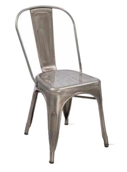 Twix, Sedia impilabile, in metallo galvanizzato