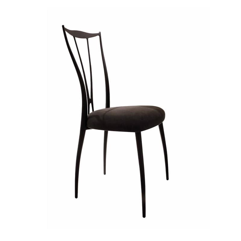 Sedie Metallo Imbottite.Sedia Con Struttura In Ferro Seduta Imbottita In Gomma