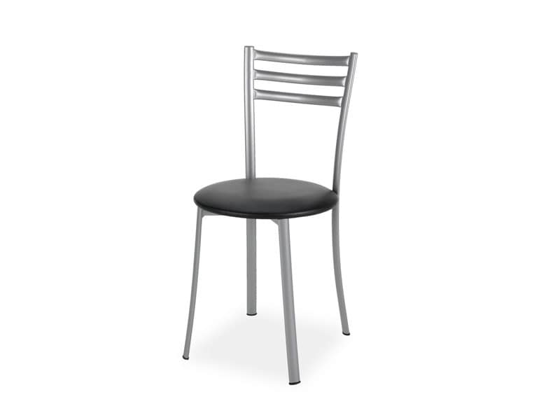 661, Sedia in metallo, comoda ed elegante, per gelateria