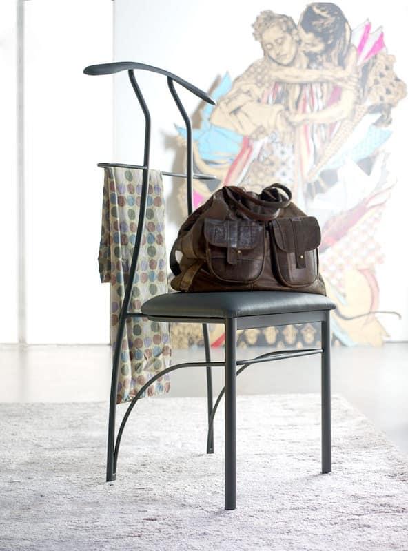 Appendiabiti sedia in ferro verniciato seduta in - Sedia camera da letto ...
