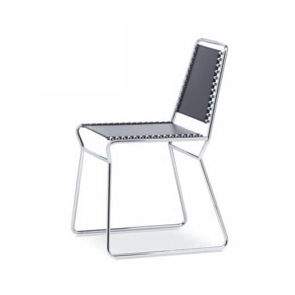 Sedie Metallo Pelle.Sedia In Metallo E Cuoio Naturale Diversi Colori