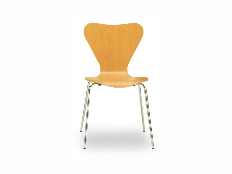 Sedute sedie moderne metallo legno idf for Franzoni arredamenti