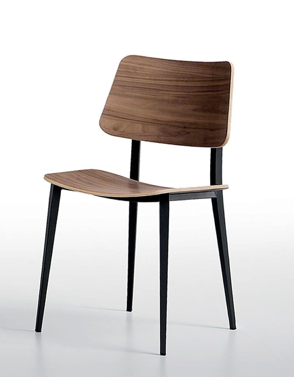 Sedia in metallo e legno per cucine e salotti | IDFdesign
