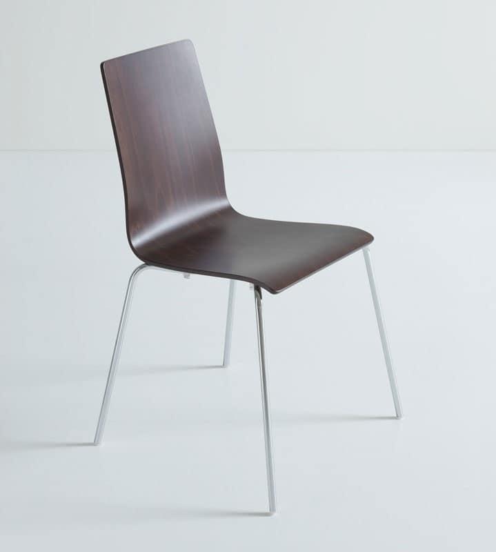 Lilly cod 184 a sedia pranzo con gambe metallo ufficio for Sedie design metallo