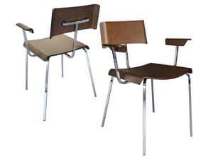 Sedute sedie moderne metallo legno idf for Corbetta arredamenti