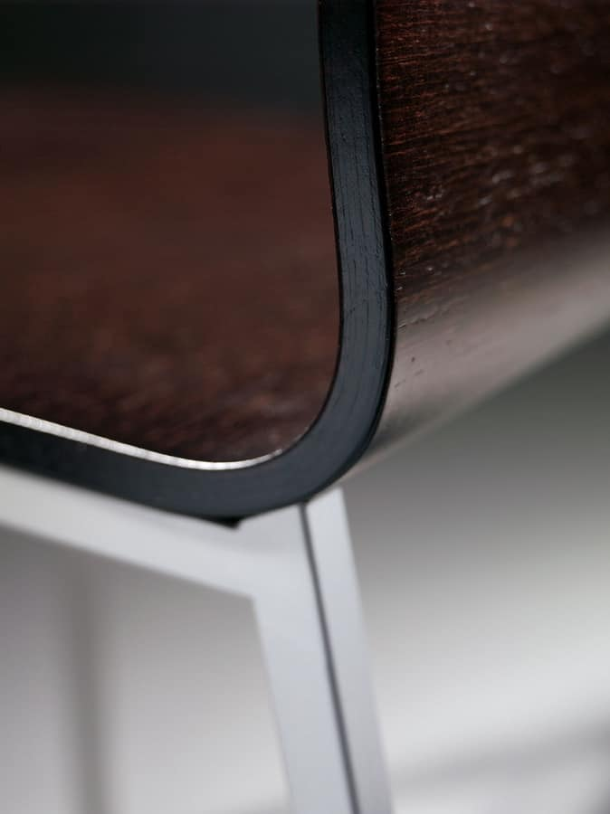 MELISSA A15 Legno, Sedia in metallo e legno verniciato, per sale d'attesa