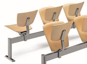 VEKTA A111, Sedia su barra in metallo e faggio multistrato