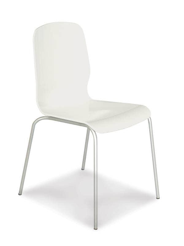 1607, Sedia moderna per la casa, sedia metallo plastica per bar