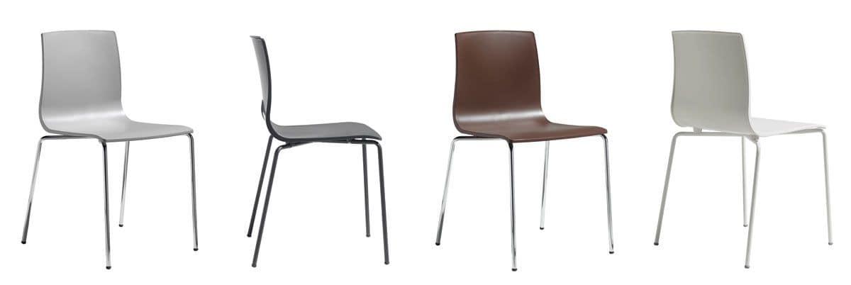 Sedia moderna con struttura in metallo per la casa idfdesign for Design stuhl barocco