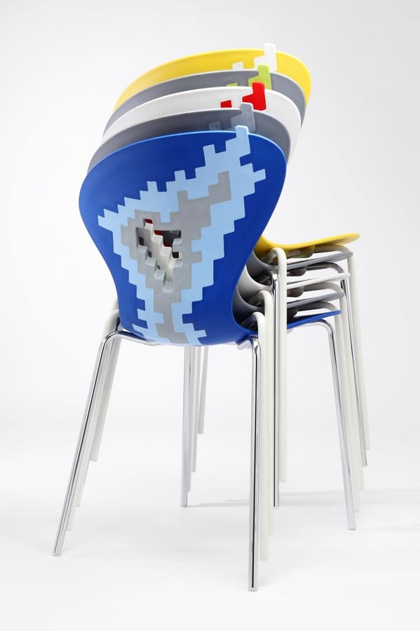 Big Bang, Sedie metallo con seduta plastica, per sala conferenze