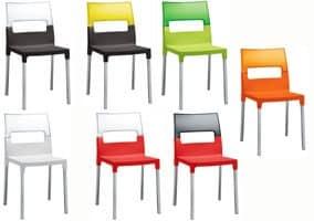 Diva sedia, Sedia in policarbonato trasparente, multicolore