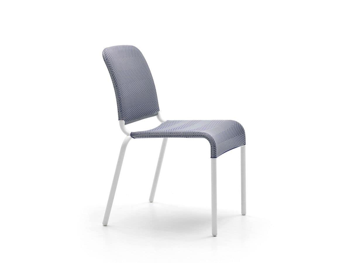 Sedia in alluminio e tessuto elastico per cucine moderne for Sedia design amazon
