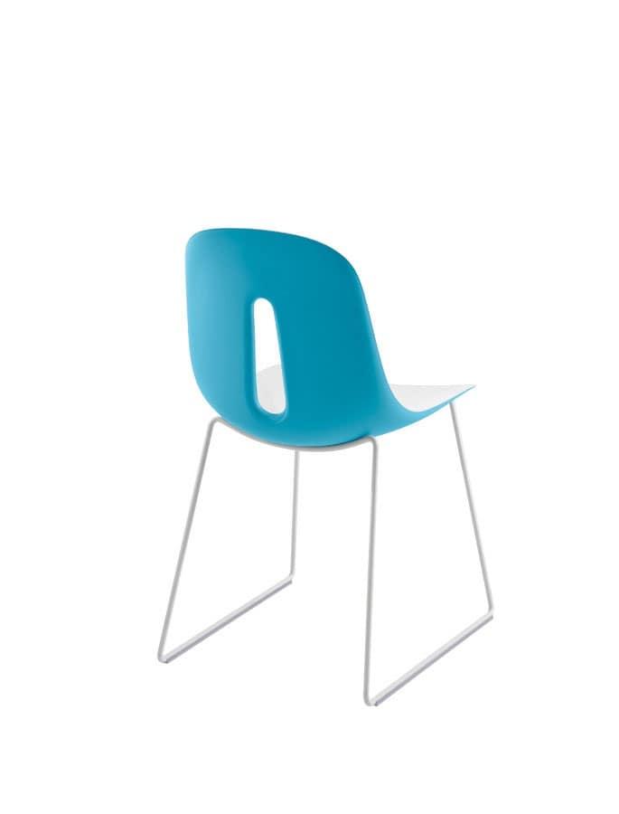 Gotham/sl, Sedie lineari metallo Sala conferenze - IDFdesign