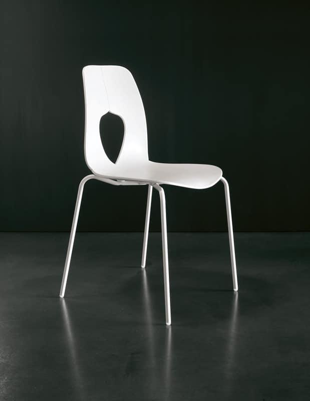 Sedia in polipropilene resistente moderna sala attesa for Sedie plastica moderne